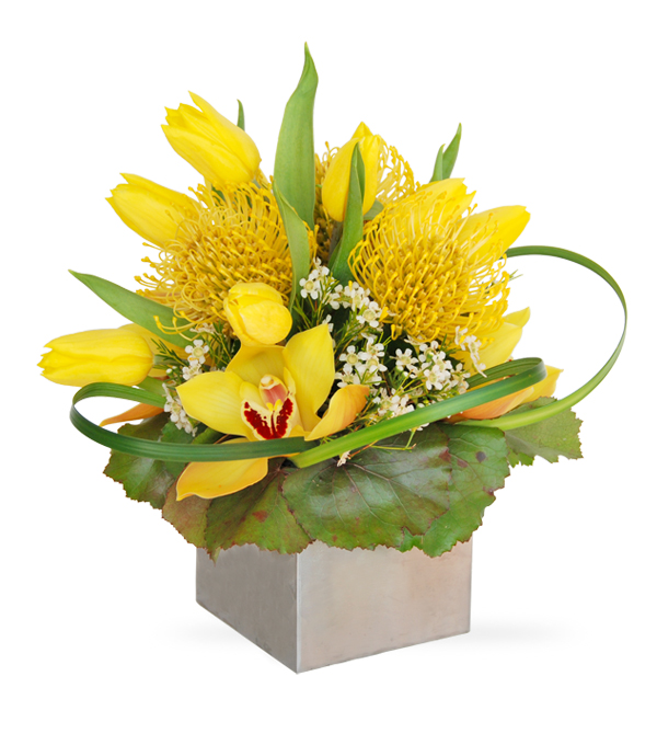 Lovely Yellow flower arrangement