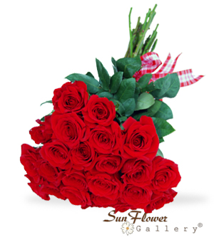 Bright Red Love roses from Sun Flower Gallery