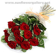 Elegant Rose Bouquet designed by Sun Flower Gallery in Glenview, Il