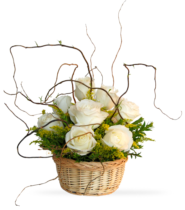 Rose And Willow Basket