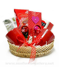 Valentines Coffee Basket